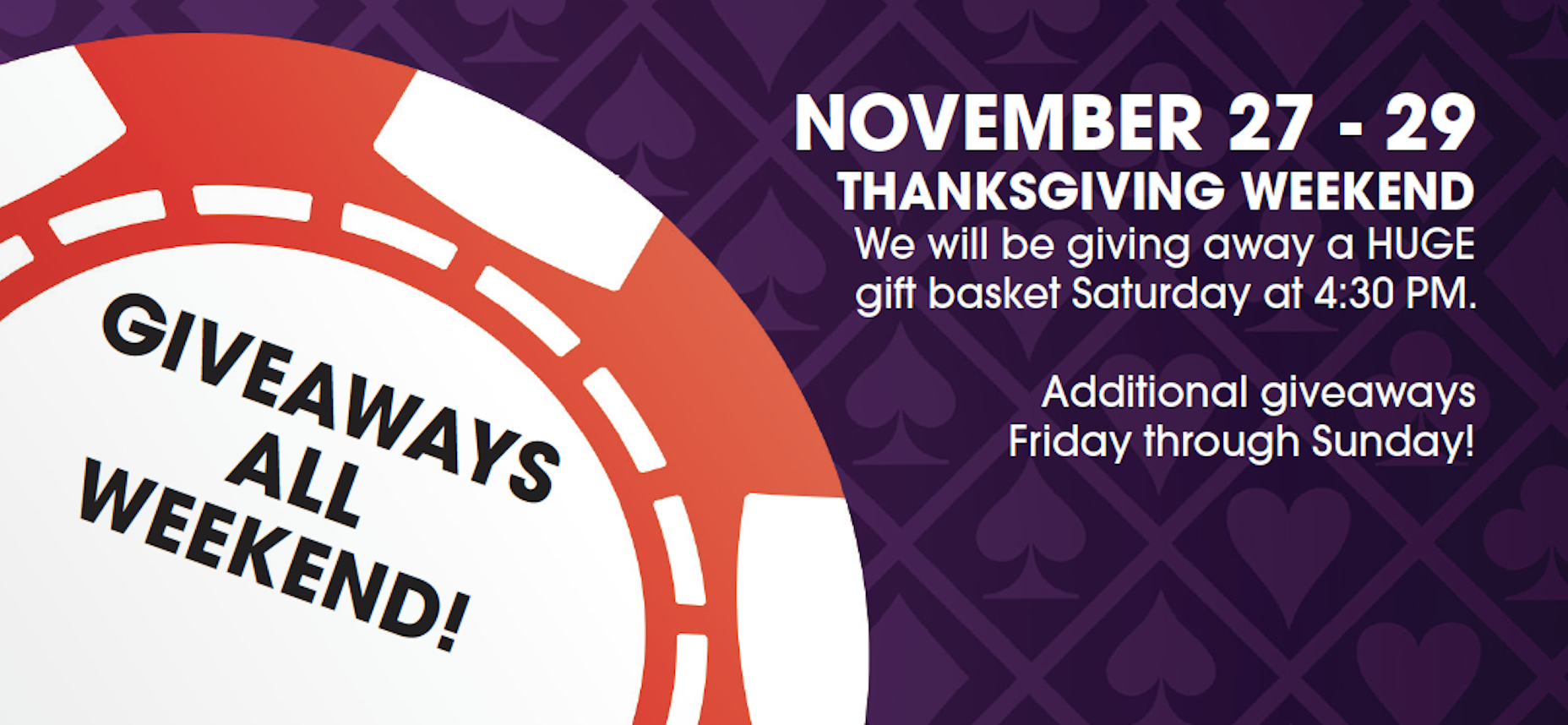 November 27-29 Thanksgiving Specials