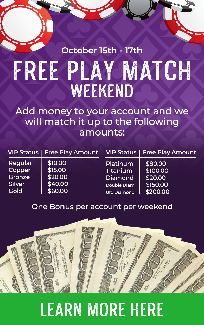 Free Play Match Weekend